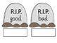 """Overused Words Rest in Peace"" Bulletin Board Kit"