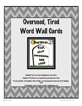Overused Words Word Wall Cards