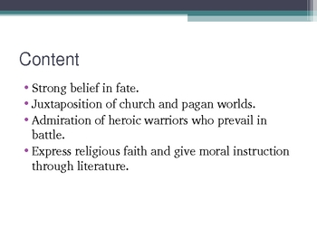 Overview PowerPoint of British Literature