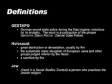 Overview Powerpoint on the Holocaust with Directed Notes W
