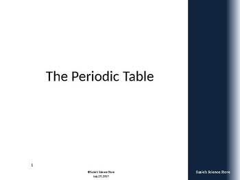 Overview - The Periodic Table