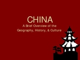 Overview of China's History Dynasty by Dynasty -- Powerpoint (PPT)