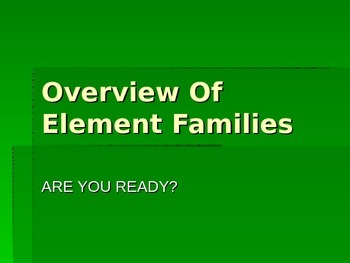 Overview of Element Families