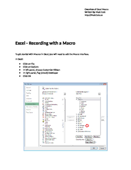 Overview of Excel Macros