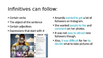 Overview of Infinitives PPT