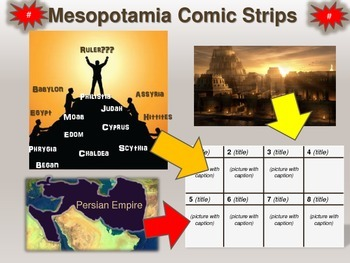 Overview of Mesopotamia Comic Strip Activity: an engaging