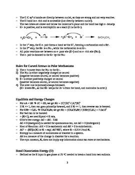 Overview of Organic Chemistry Reaction Types (Handout / Study Aid)