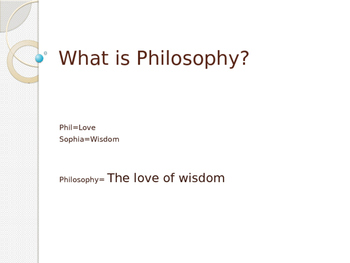Overview of Philosophy PPT