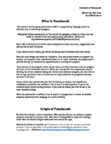 Overview of Pseudocode