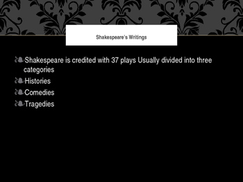 Overview of Shakespeare Plays