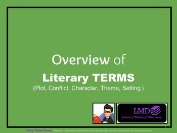 Overview of Short Story Terms*Tara-Lee Markides Deighan (TLMD)