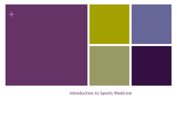 Overview of Sports Medicine