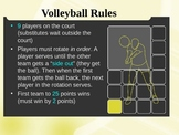 Overview of Volleyball Skills - Physical Education PowerPoint