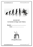 Workbook on World History for Stage 4 and 5 - Years 8-10