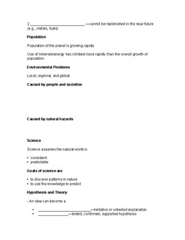 Overview of the Earth Sciences (Powerpoint Worksheets)