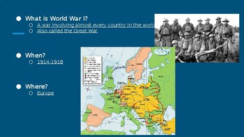 Overview of the US in World War I