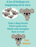 Overwhelming Emotions Poster, Emotional Regulation 8 1/2 x 11