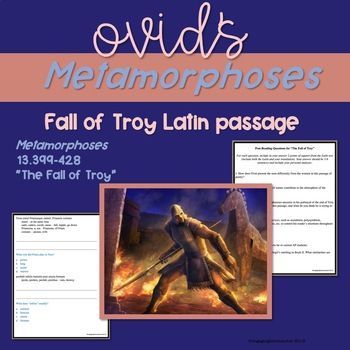 "Ovid's ""Fall of Troy"" Latin Translation, Analysis, and Mul"