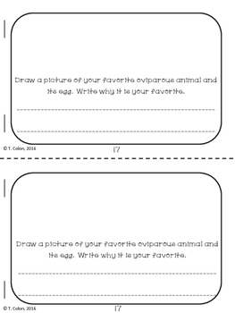 Oviparous Animals Printables--mini-book, sort, and worksheets