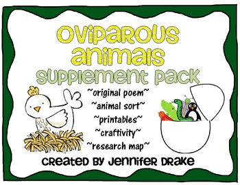 Oviparous Animals Supplement Pack ~Supports CC Non Fiction Standards!~