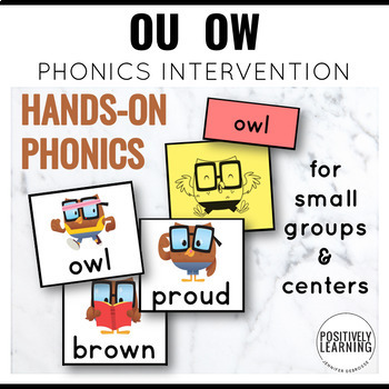 Phonics Intervention Games Vowel Dipthongs Ou and Ow