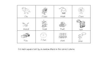 Ow Ou Vowel Digraph booklet