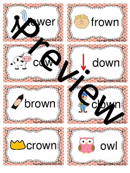Ow and Ou Word Sort