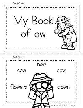 Word Detective ~ OW Sound Activities