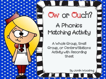 Ow or Ouch? A Phonics Sorting Activity