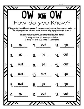 Ow or Ow, How Do You Know?
