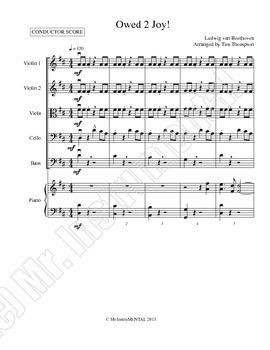 Owed 2 Joy - Modern Arrangement for Beginning Orchestra