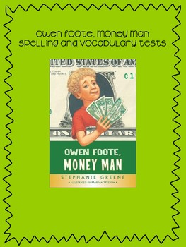 Bookworms Aligned Owen Foote, Money Man Spelling & Vocabulary Tests