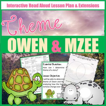 Owen & Mzee Lesson Plan and Book Companion - Distance Learning