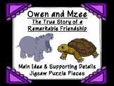 Owen and Mzee Main Idea and Supporting Details Jigsaw Puzz