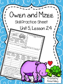 Owen and Mzee (Skill Practice Sheet)