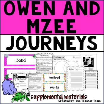 Owen and Mzee Journeys Fourth Grade Supplemental Materials