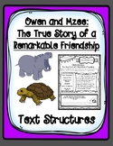 Owen and Mzee Text Structures Graphic Organizers