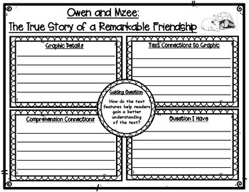Owen and Mzee The True Story of a Remarkable Friendship Text Features Organizer