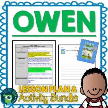 Owen by Kevin Henkes 4-5 Day Lesson Plan and Activities