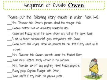 Owen by Kevin Henkes:   A Complete Literature Study!