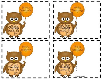 Owfully Thankful Gift Tags