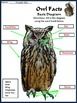 Owls Activities: Owl Facts Science Activity Packet Bundle