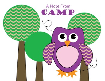 Owl A Note from Camp Note Card