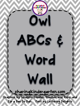 Owl ABCs and Word Wall