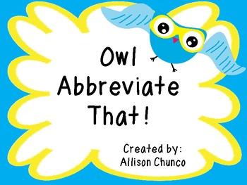 Owl Abbreviate That