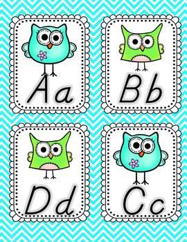 Owl About Classroom Decor: Word Wall Manuscript