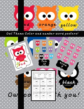 Owl About Color and Number