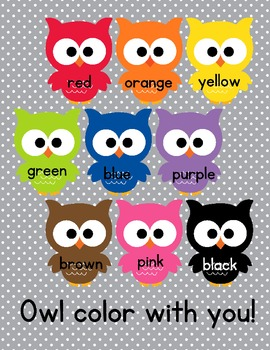 Owl About Color and Number - Zan(I)er!