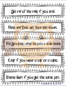 Owl About Fluency Building! Using:  CVC, CVCe, CCVC, and CCVCe Words