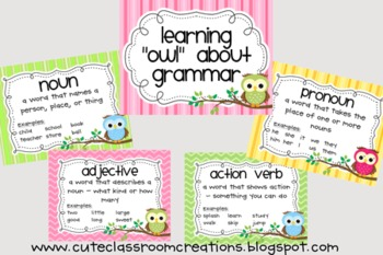 """Owl"" About Grammar & Sentences Combo Pack"